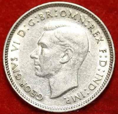 1941 Australia 6 Pence Silver Foreign Coin Free S/H