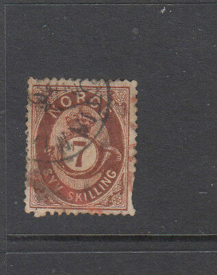 A very nice old Norway 7sk Brown 1872 issue