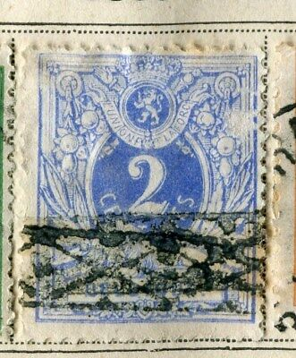 BELGIUM;   1869 early classic Numeral issue used 2c. value