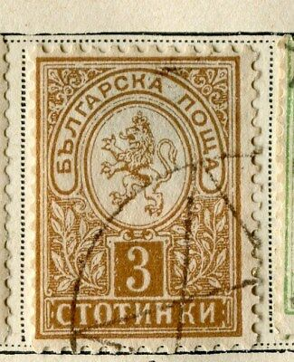 BULGARIA;   1889 early classic issue fine used 3c. value