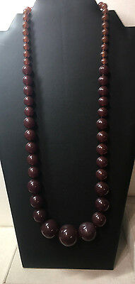 Vintage Bakelite Graduated Bead Necklace 26 Inches