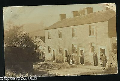 BROADBOTTOM Cheshire   row of houses with families at the doors  RP