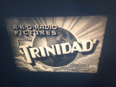 """VINTAGE 16mm SOUND FILM """"TRINIDAD"""" APPEARS TO BE 1930s. B/W APPROX 350 feet No14"""