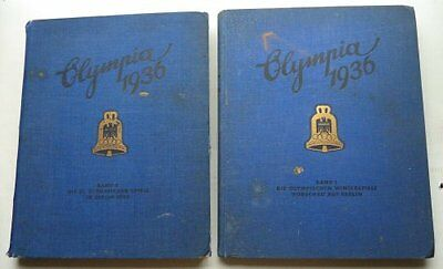 The Olympic Games, Germany 1936, 2 Large Volumes, German Text