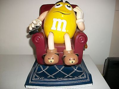 M&m- Candy-Dispenser- '' Couch Potato ''-Watching Tv.-8 Inches