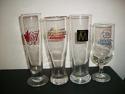 4- Different Molson Beer Glasses
