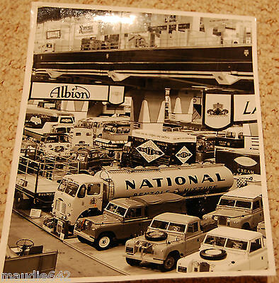 RARE Land Rover Series 2 Commercial Motor Show Stand Photo incl Fire Engine 1958