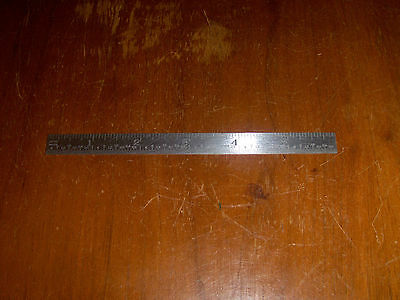 Lufkin Rule Co No S2110R 6 Inch Stainless-Tempered Ruler Machinist Industrial
