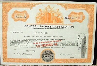 General Stores Corporation Certificate