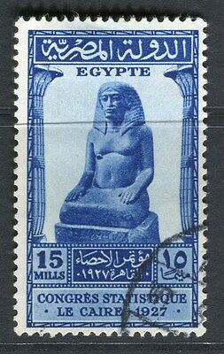 EGYPT;  1927 Statistical Congress issue fine used 15m. value