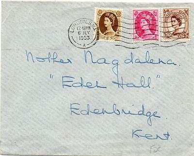 1953 5d,8d,1/- Wilding First day cover, 6th July 1953