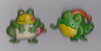 Fridge Magnets Pair Of Plastic Googly Eyed Frogs