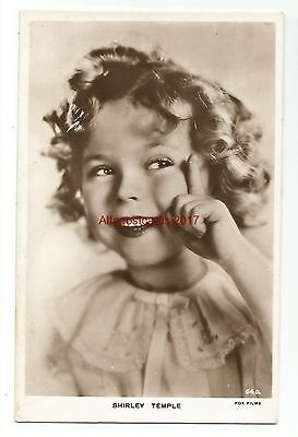 A Young Shirley Temple Real Photo Vintage Postcard