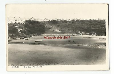 Wales Aberporth The Bay Real Photo 1969 Vintage Postcard