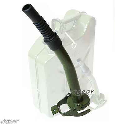 New Metal Jerry Can Gas Canister Nozzle 100%Authentic Green Military NATO Style