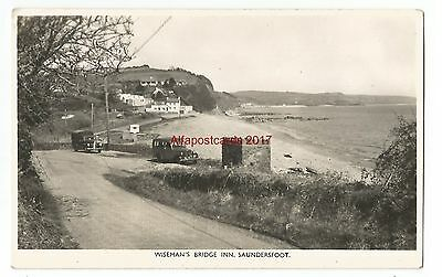 Wales Saundersfoot Wisemans Bridge Inn Real Photo Vintage Postcard