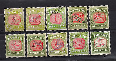 Australia: Excellent Group Of Fine Used Various Postage Due Issues.