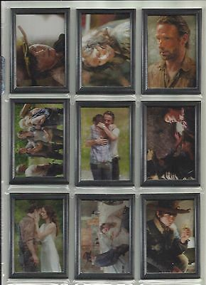 "2014 Walking Dead: Season 3 SHADOWBOX ""Complete Set"" of 9 Chase Cards (GF1-GF9)"