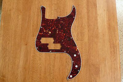 Pickguard Brown Tortoise Shell 4 Ply For P Bass / Precision Bass