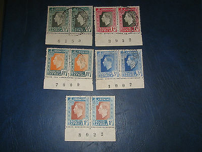 South Africa 1937 SG71-75  KGVI Coronation Used set of 5 stamps