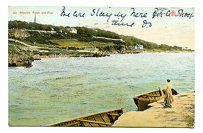PPC Britain Ireland  Moville From Old Pier.   Used from Moville 1906