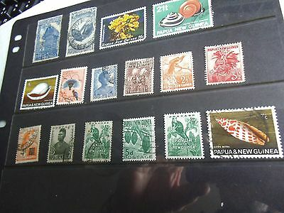 A small selection of Papua New Guinea stamps