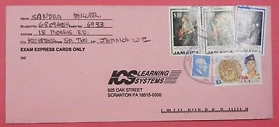 1999 Jamaica Multi Franked Bob Marley Issues On Cover To Usa