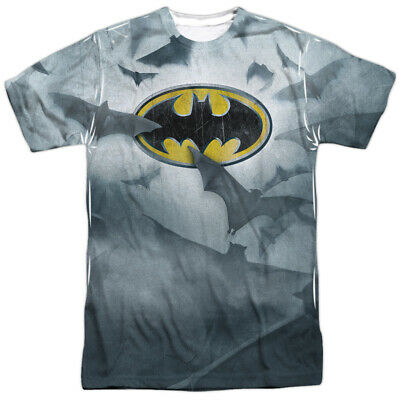 Batman Lighting Strikes DC Comics Allover Sublimation Licensed Adult T Shirt