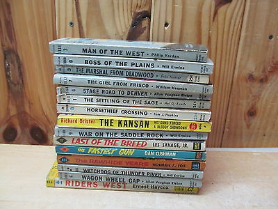 Lot of 15 Vintage Western Paperback Pulp Fiction Novels Will Ermine, Fox, etc