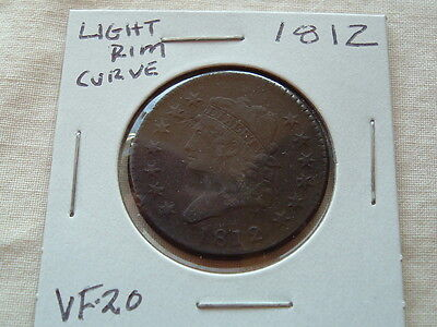 American Large Cent 1812  Strong Detail coin!