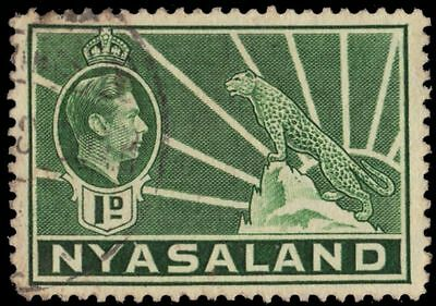 """NYASALAND 55A (SG131a) - King George VI """"African Leopard"""" (pa32245)"""