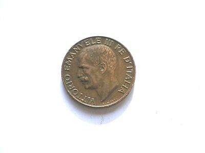 EARLY 5 CENTISIMI COIN FROM ITALY-DATED 1933 high grade