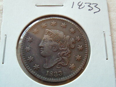 American Large Cent 1833  Strong coin!