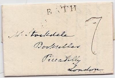 1803 Thomas Lewis O'baine Bishop Of Meath Letter Ex Bath To London Bookseller