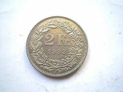 2 FRANC COIN FROM SWITZERLAND DATED 1993 nice