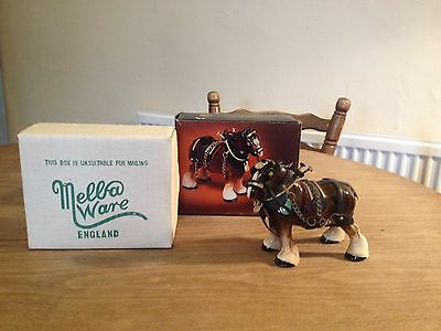 Melba Ware Ceramic Shire Horse    Boxed And In Great Condition