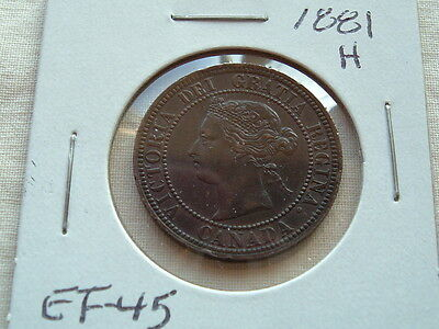 Victorian Large Cent 1881H Beauty! Lots of detail!