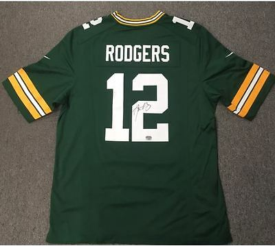 AARON RODGERS Signed AUTO Autograph NFL Packers Nike Replica Jersey Tristar COA