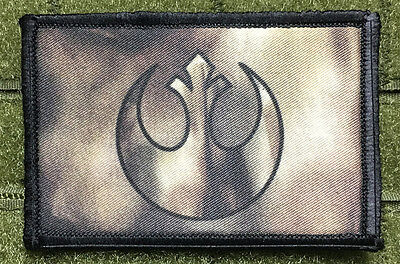 REBEL ALLIANCE STAR WARS MORALE PATCH Military Tactical Army USA Flag Hook Badge