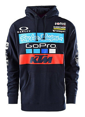 2017 Troy Lee Designs TLD KTM Go Pro Licensed Team Pullover Hoodie Navy Blue MX