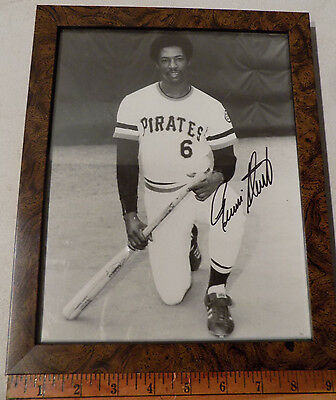 VINTAGE RENNIE STENNETT #6 PITTSBURGH PIRATES AUTOGRAPHED BASEBALL PICTURE 8x10""