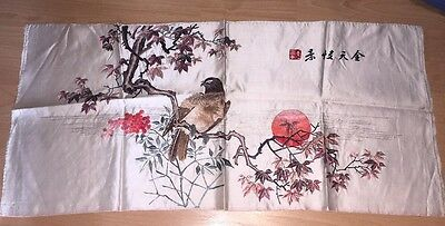 """antique chinese embroidered silk 30"""" Long"""