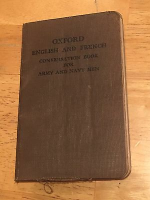 WWI US Army and Navy Oxford English + French Conversation Book 1917