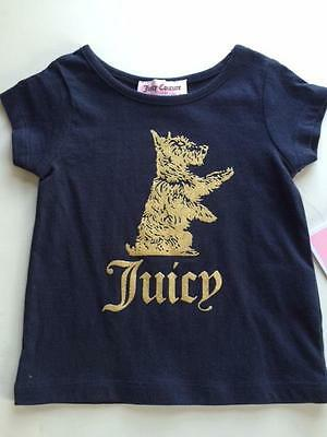 Nwt Infant Girls Juicy Couture Navy Top $28 Sz 6-12M