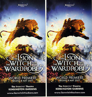 2 X The Lion The Witch And The Wardrobe London Theatre Flyers