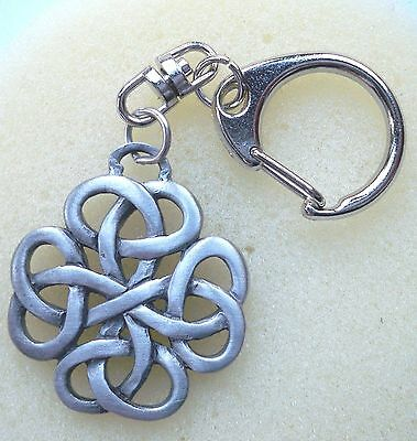Celtic Friendship knot key ring, pewter, made in America