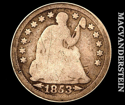 1853 Seated Half Dime- Type 3 !! Scarce !! Better Date !! #o4703