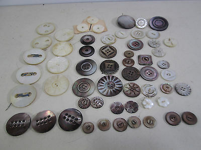 Vintage lot of Fancy Mother of Pearl Buttons