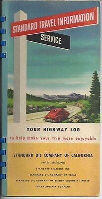 1947 Standard Travel Information Service Booklet - Trip East from Morro Bay, CA