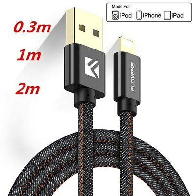 USB Data Charger Cable for iPhone X/8 7 Plus 2.1A for Lightning to USB for iPad
